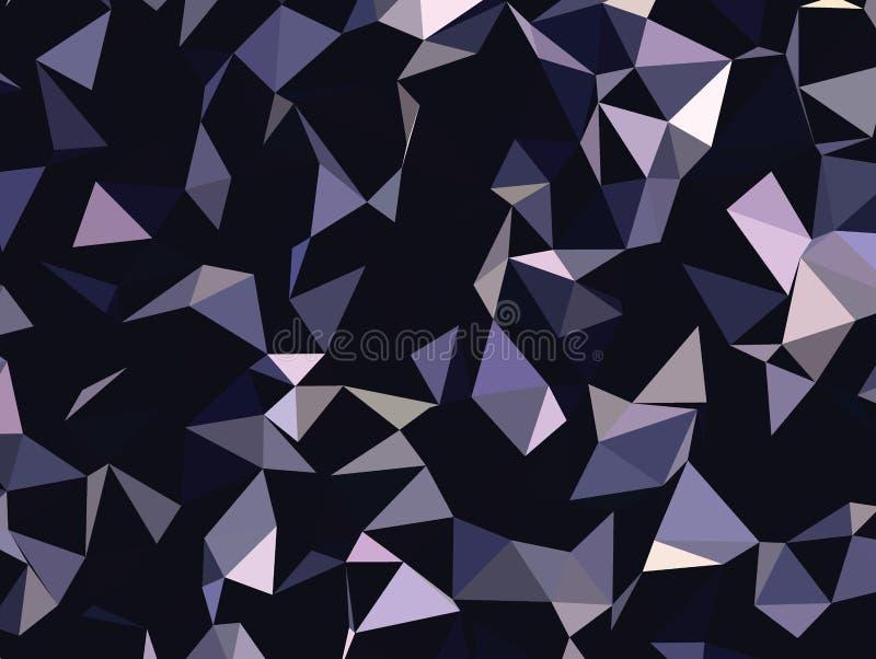 Abstrakter polygonaler Hintergrund des Vektors Kreativer Vektorclipart Grafische Ressource für Ihre Planungsarbeiten vektor abbildung