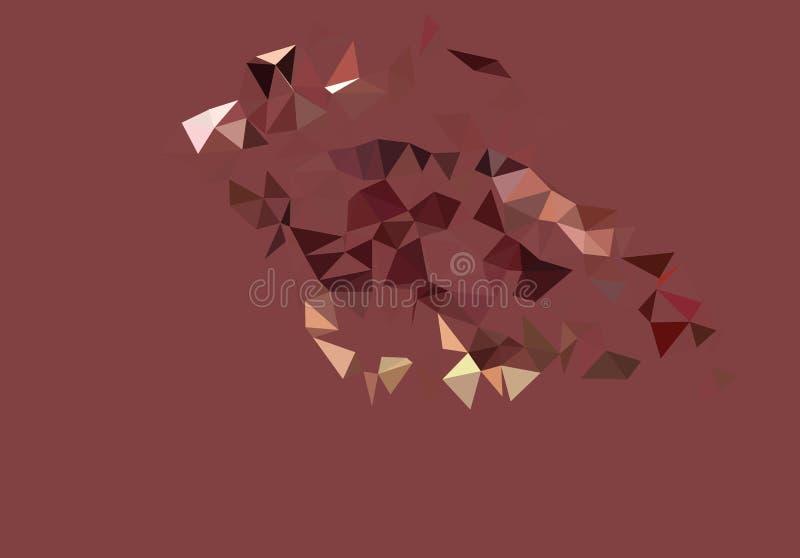 Abstrakter polygonaler Hintergrund des Vektors Kreativer Vektorclipart Grafische Ressource für Ihre Planungsarbeiten stock abbildung