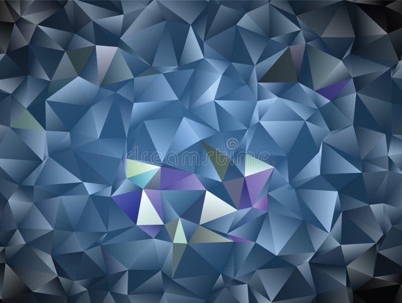 Abstrakter polygonaler Hintergrund des Vektors Kreativer Vektorclipart mit Dreiecken Grafische Ressource für Ihre Planungsarbeite stock abbildung
