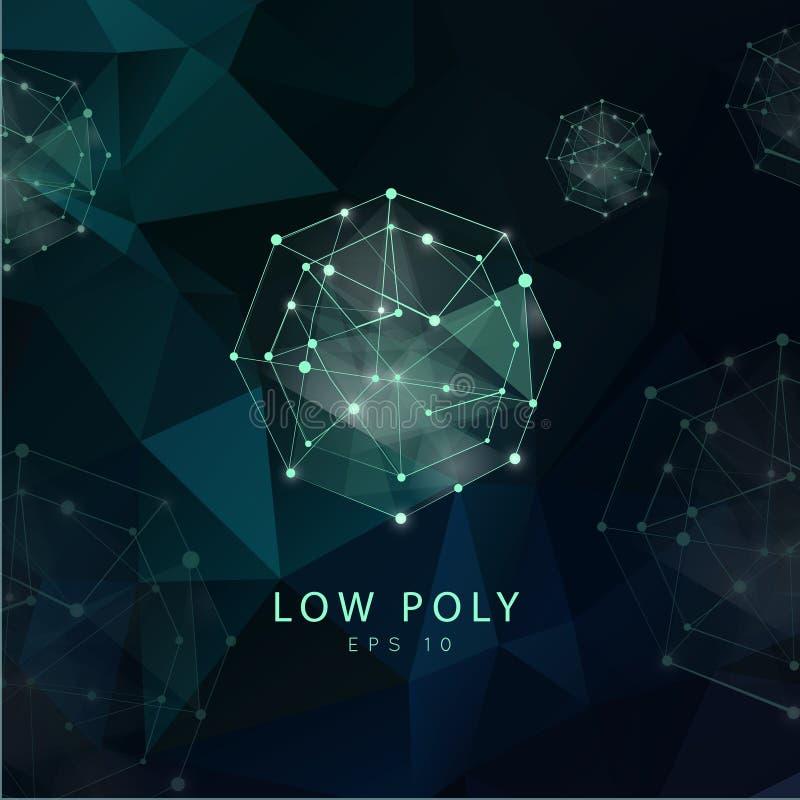 Abstrakter polygonaler Hintergrund Niedriges Polydesign stock abbildung