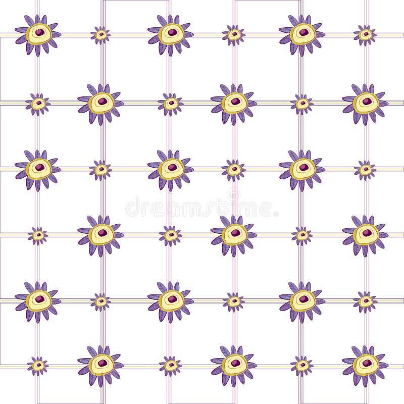 Abstrakter purpurroter Blumen- u. Plaidhintergrund stockfotografie