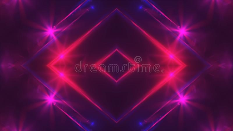Abstrakter purpurroter Fractal beleuchtet, 3d übertragen Hintergrund, den Computer, der Hintergrund erzeugt lizenzfreie abbildung