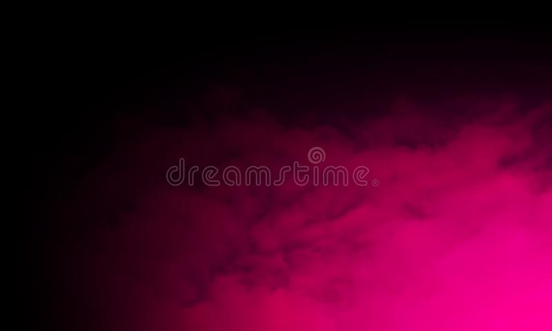 Abstrakter purpurroter Rauchnebelnebel auf einem schwarzen Hintergrund Beschaffenheit, lokalisiert stock abbildung