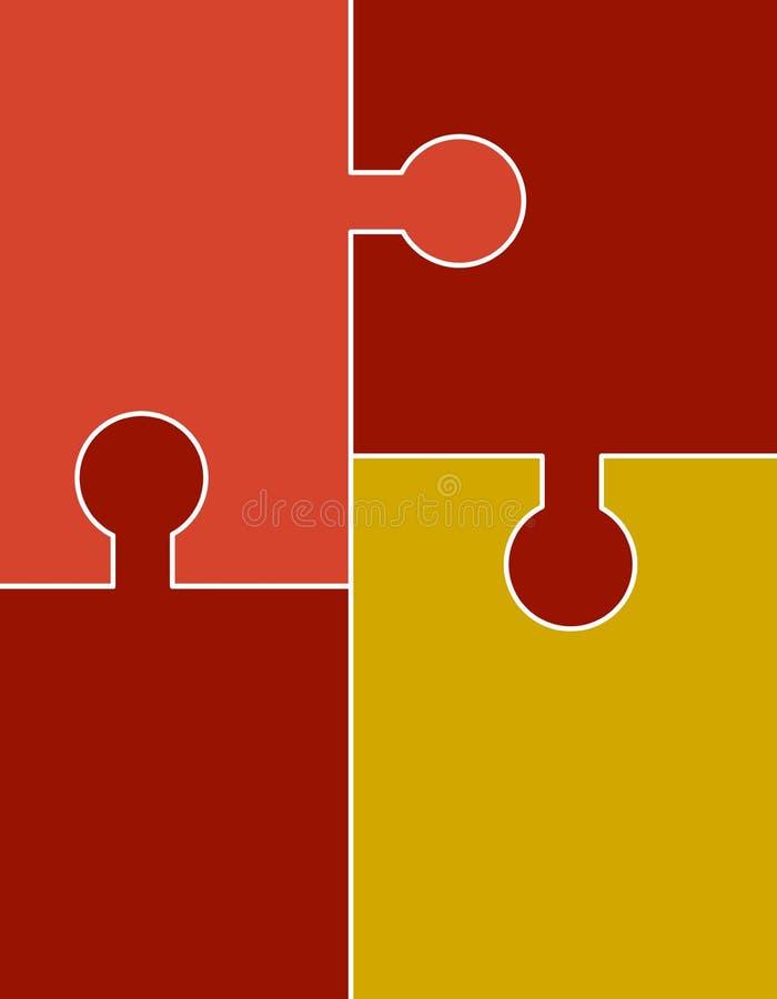 Abstrakter Puzzlespiel-Hintergrund lizenzfreie abbildung