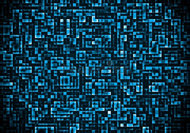 Abstrakter quadratischer Hintergrund lizenzfreie abbildung