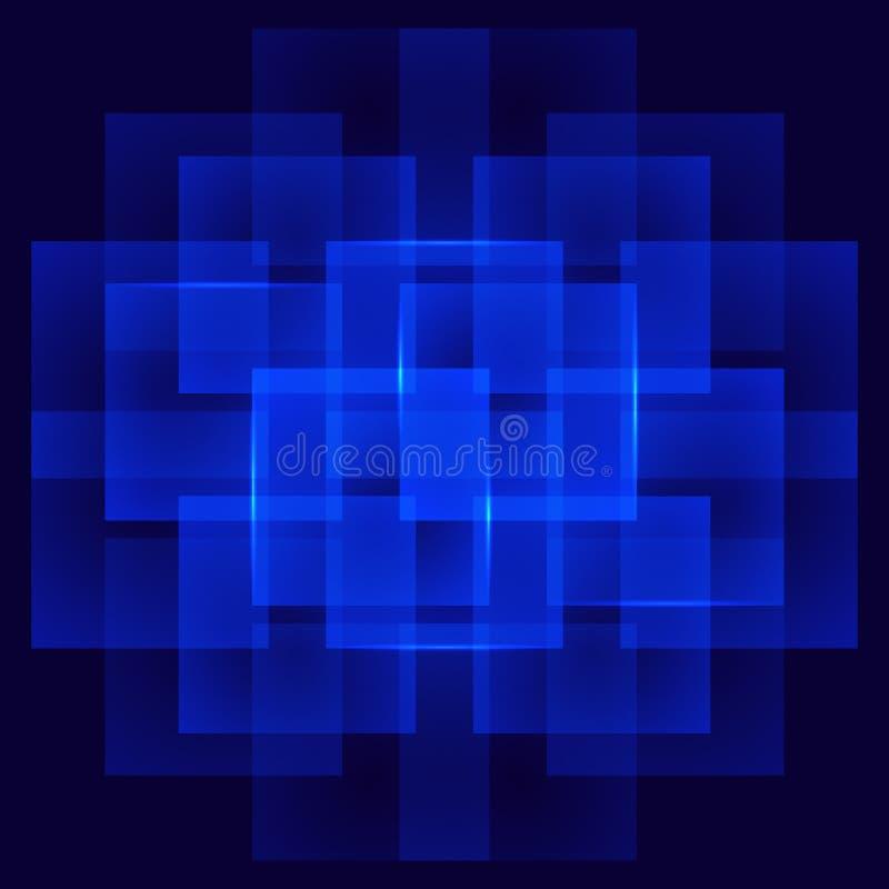 Abstrakter quadratischer Hintergrund stockfotos
