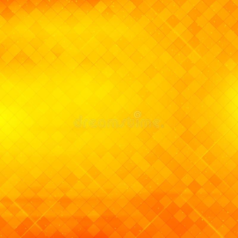 Abstrakter quadratischer Pixelmosaikhintergrund lizenzfreie abbildung