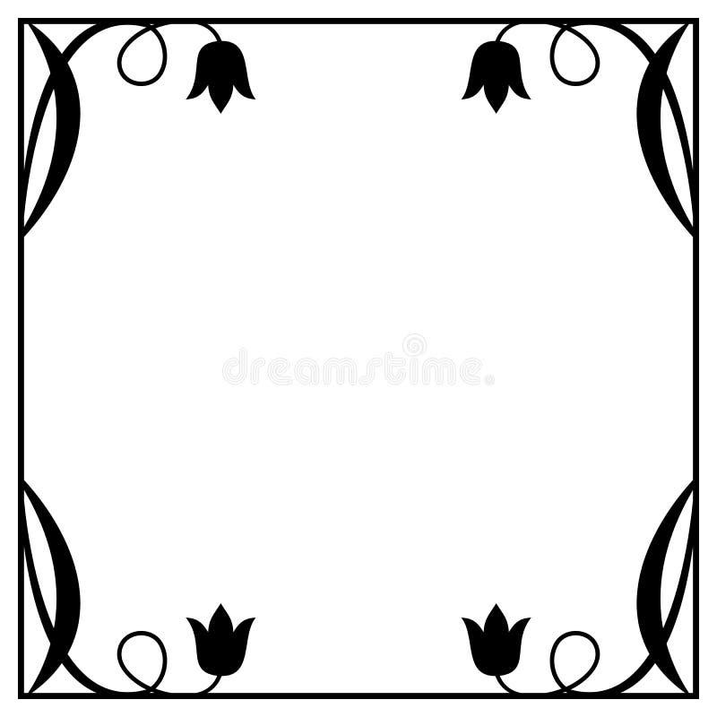 Abstrakter Quadratischer Schwarzweiss-Rahmen Mit ...