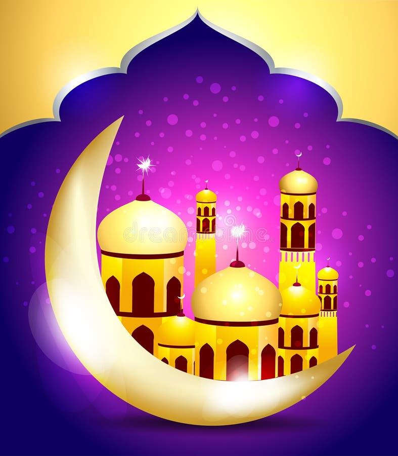 Abstrakter Ramadan-mubarakh Hintergrund vektor abbildung