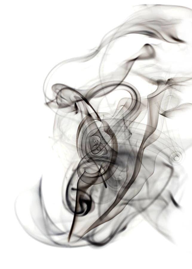 Abstrakter Rauch auf dem Weiß stockfotografie