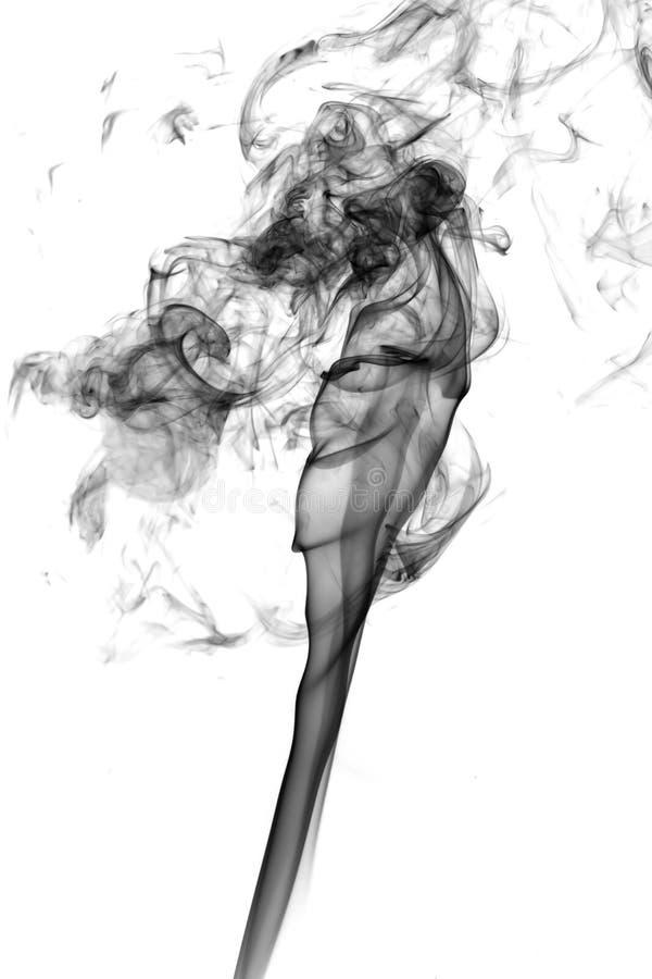 Abstrakter Rauch auf weißem Hintergrund lizenzfreies stockbild