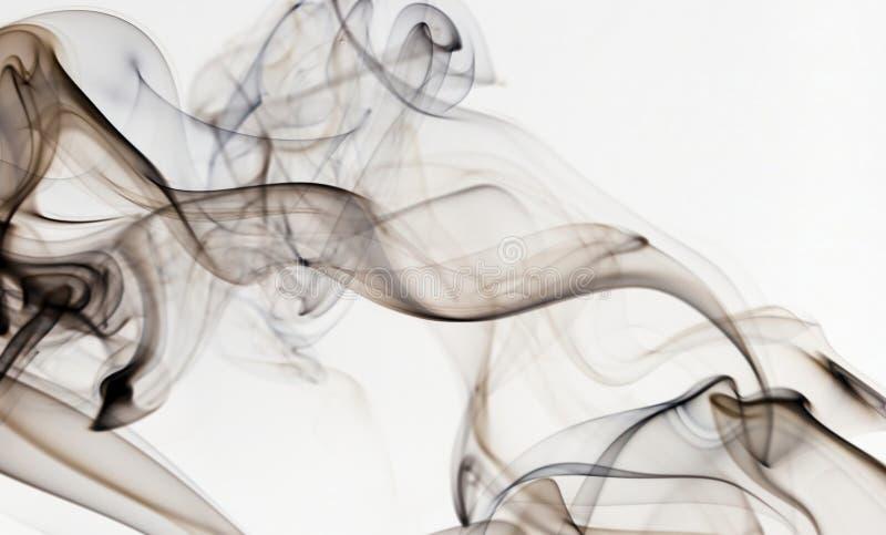 Abstrakter Rauch lokalisiert auf Weiß stockbilder