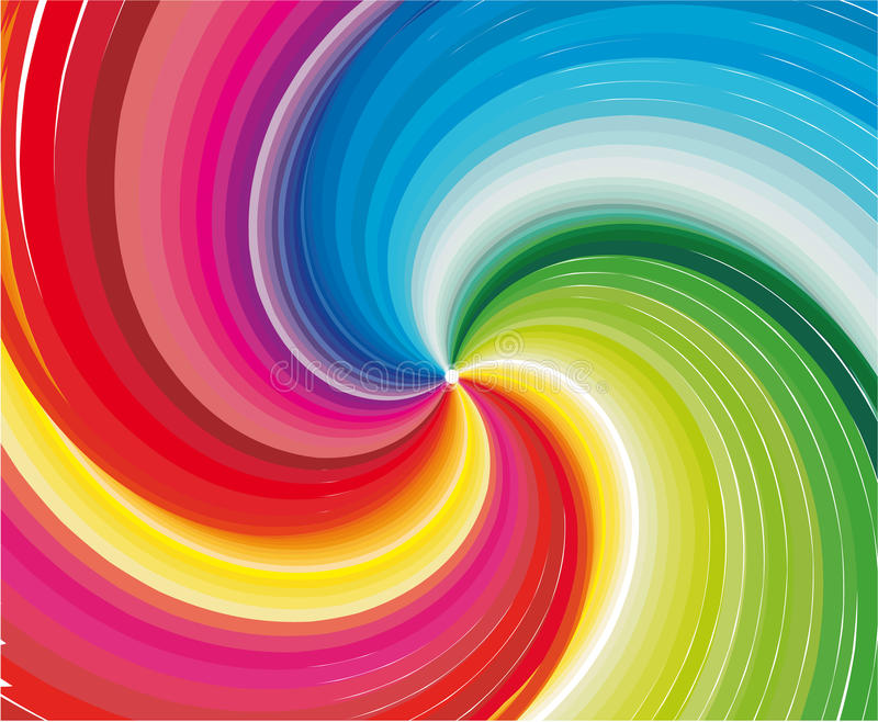 Abstrakter Regenbogen stock abbildung