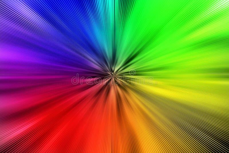 Abstrakter Regenbogen färbt Explosion für Hintergrund stock abbildung
