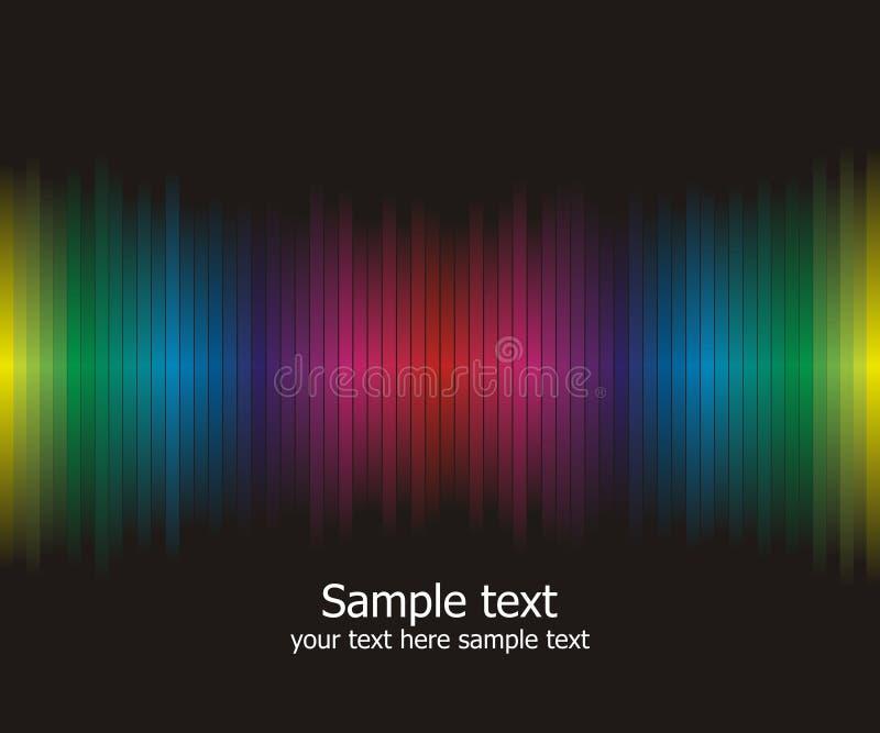 Abstrakter Regenbogen färbt Hintergrund stock abbildung