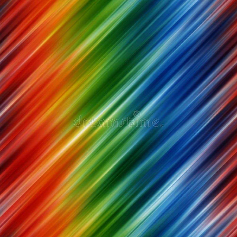 Abstrakter Regenbogen färbt Hintergrund mit unscharfen diagonalen Zeilen stock abbildung