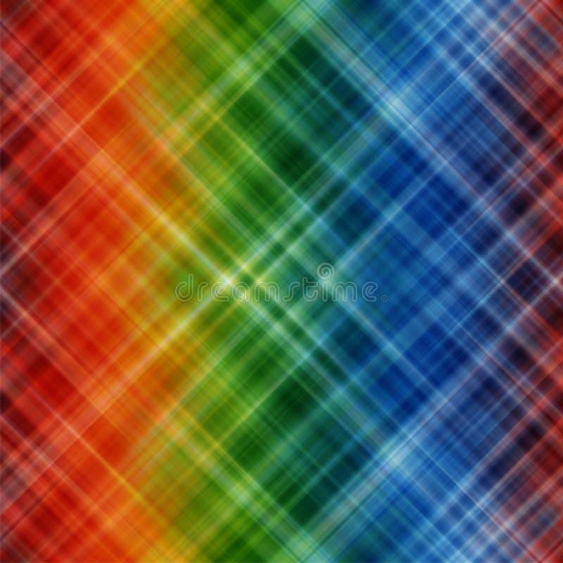 Abstrakter Regenbogen färbt Hintergrund mit unscharfen Linien lizenzfreie abbildung