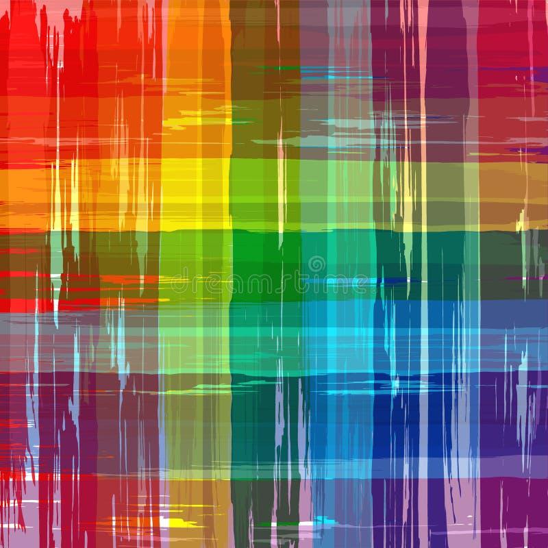 Abstrakter Regenbogen färbt Plaidhintergrund vektor abbildung
