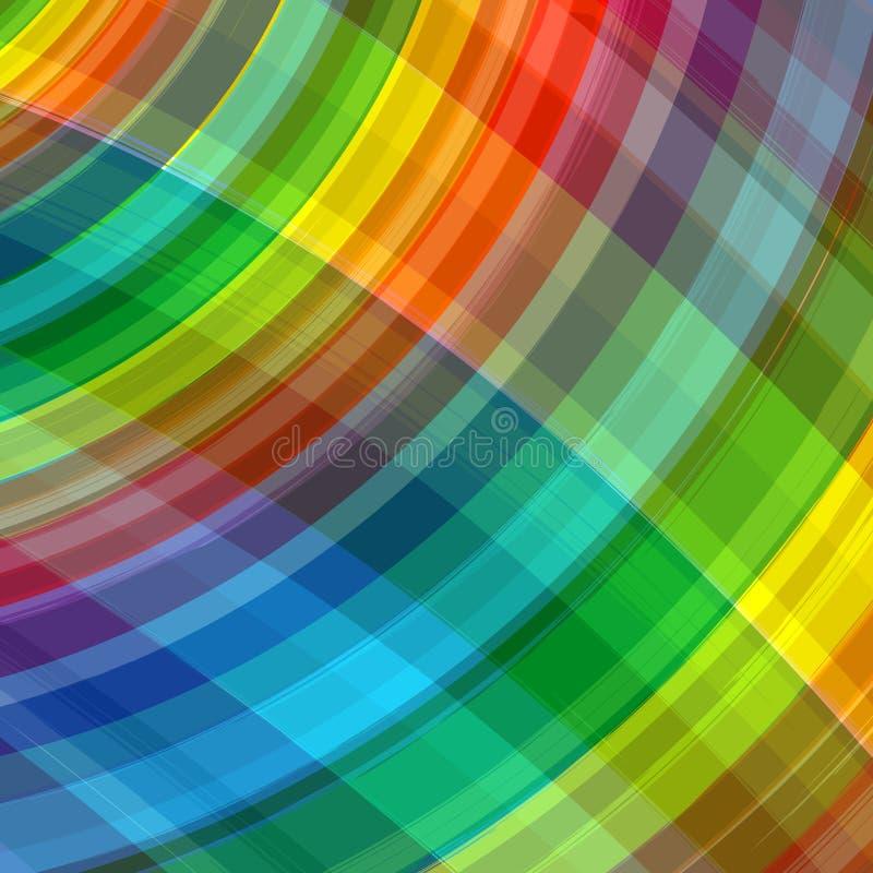 Abstrakter Regenbogen färbt Plaidhintergrund stock abbildung
