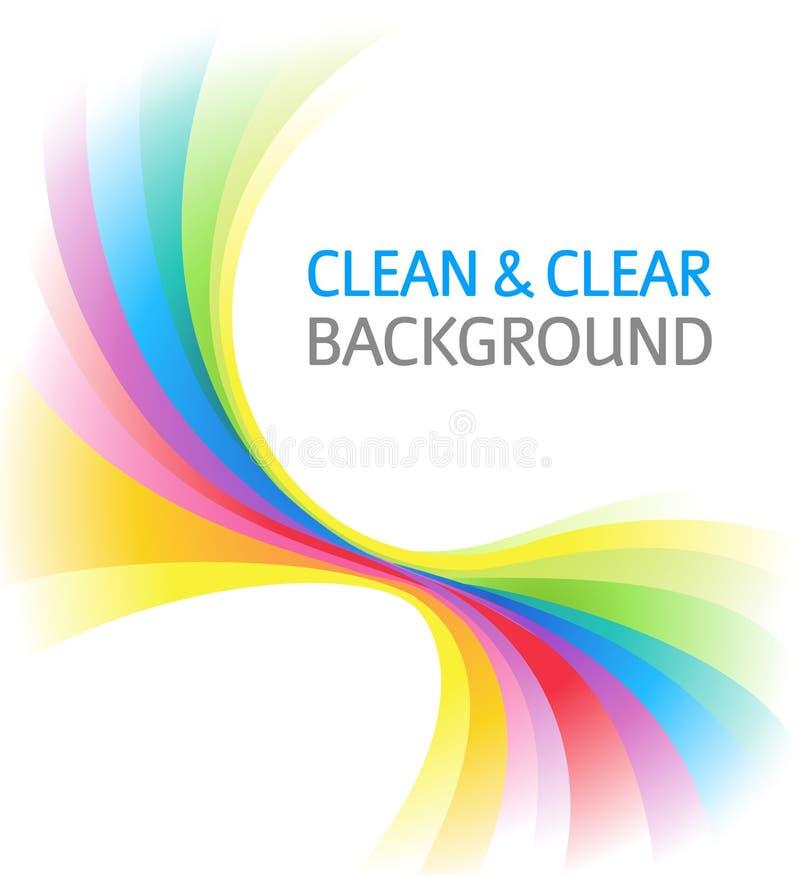 Abstrakter Regenbogen-Hintergrund stock abbildung