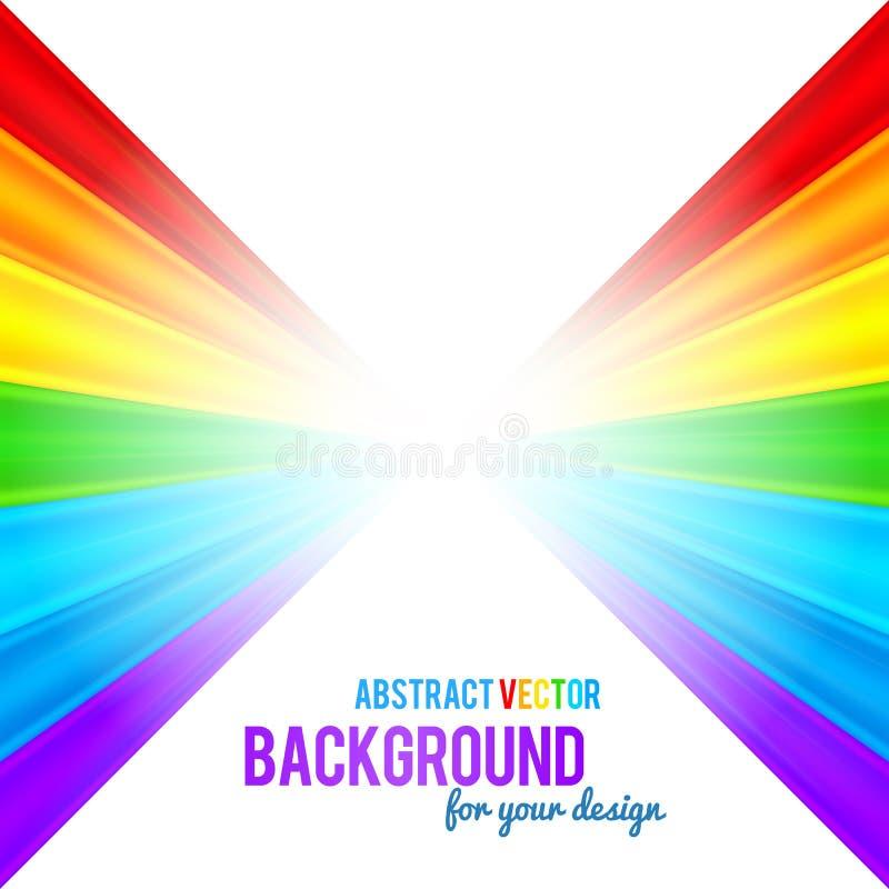 Abstrakter Regenbogen streift Vektorhintergrund stock abbildung