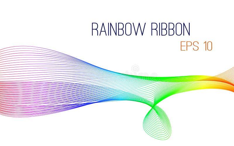 Abstrakter Regenbogenbandvektor, ENV 10 lizenzfreie abbildung