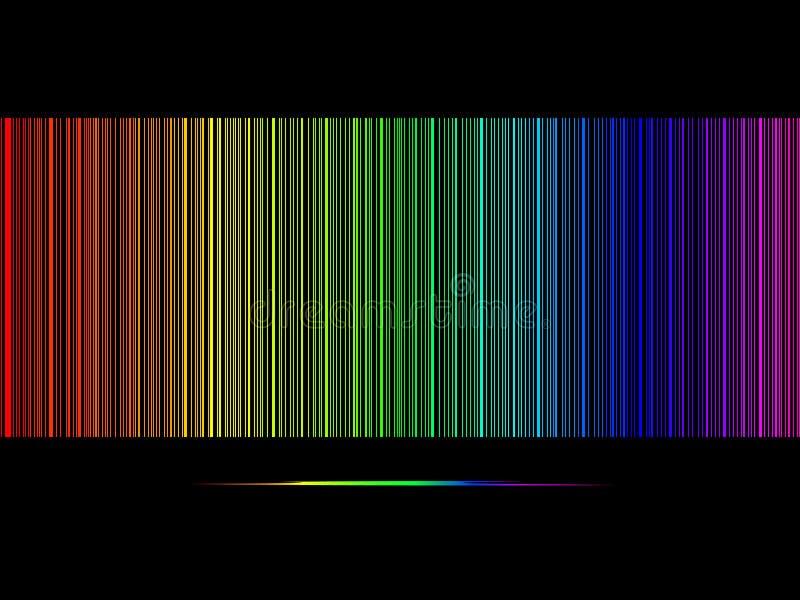 Abstrakter Regenbogenhintergrund stock abbildung