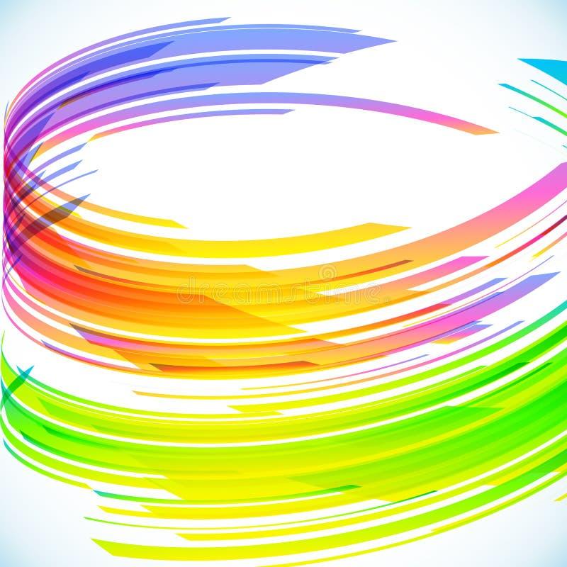 Abstrakter Regenbogenzylinder-Vektorhintergrund stock abbildung