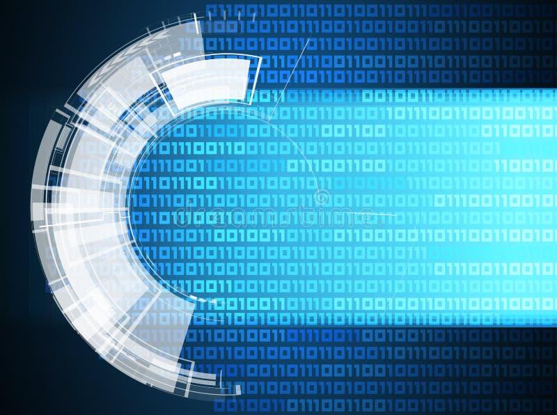 Abstrakter Retro- Digitalrechnertechnologiegeschäftshintergrund lizenzfreie abbildung