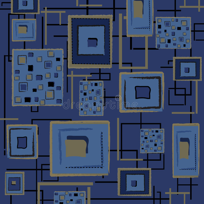 Abstrakter Retro- Hintergrund - Blau stock abbildung