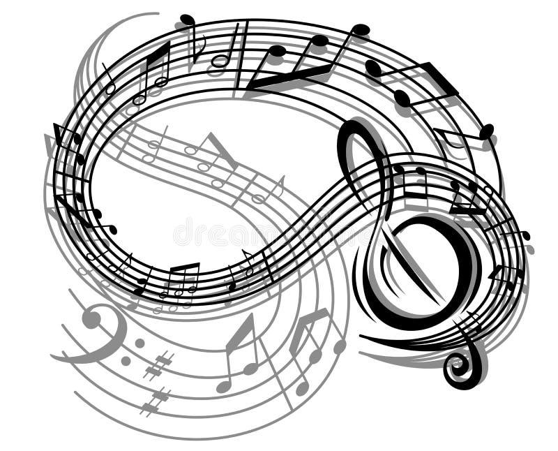 Abstrakter Retro Musikhintergrund lizenzfreie abbildung