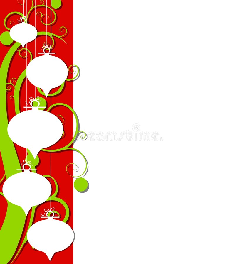 Abstrakter Retro- Weihnachtsrand stock abbildung