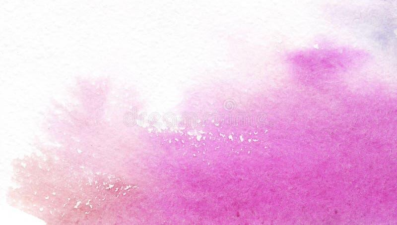 Abstrakter rosa Aquarellfleck auf wei?em Hintergrund Farbe spritzt auf Papier Von Hand gezeichnet Gesicht der illustration vektor abbildung