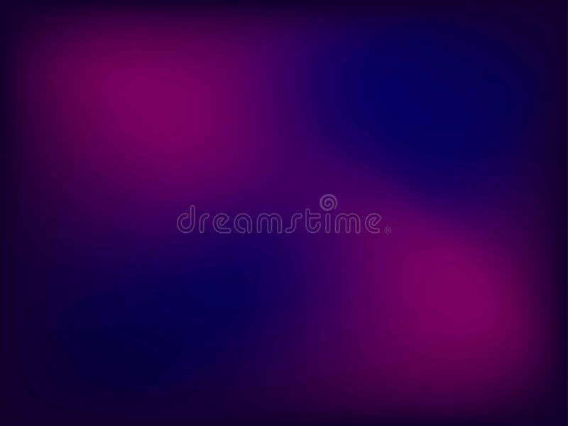 Abstrakter Rosa-, Blauer und violetterunschärfefarbsteigungshintergrund für Grafikdesign Auch im corel abgehobenen Betrag stock abbildung