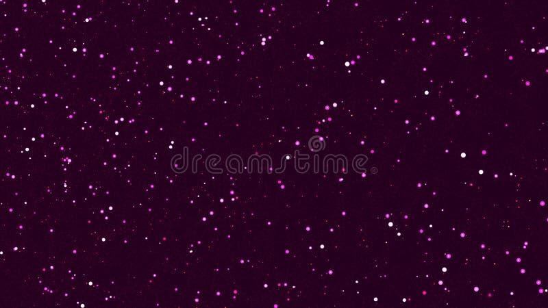 Abstrakter rosa Hintergrund mit vielen Partikeln vektor abbildung