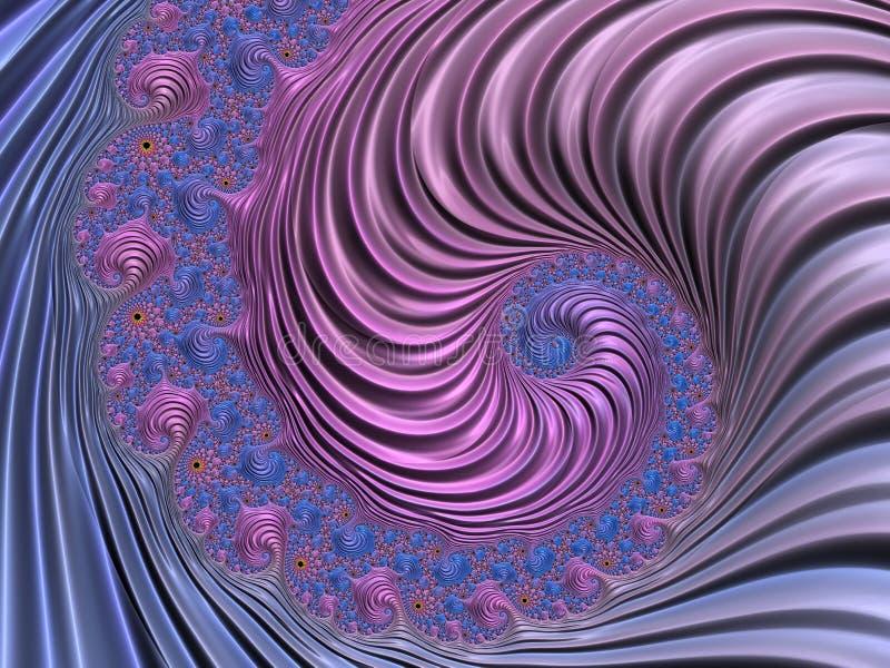 Abstrakter Rosa und Blau strukturierter gewundener Fractal 3d übertragen für Plakat, Entwurf und Unterhaltung Festlicher Hintergr vektor abbildung