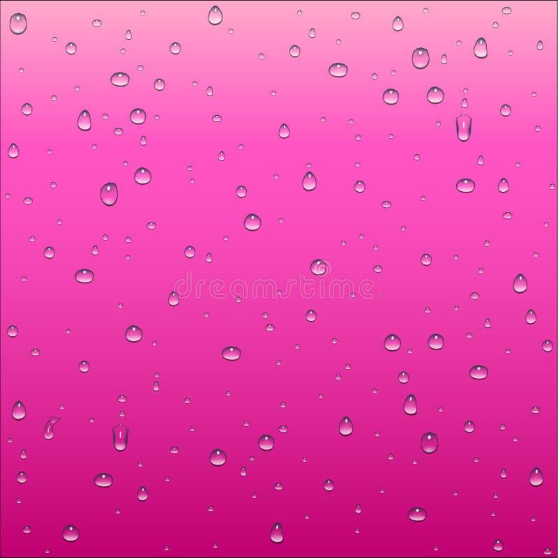 Abstrakter rosa und rosafarbener Steigungshintergrund mit klarem Wassertropfen lizenzfreie abbildung