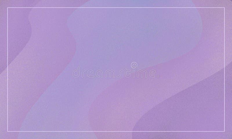 Abstrakter Rosa- und violettertonhintergrund mit Wellen und Rahmen Design f?r Fahnen lizenzfreie abbildung