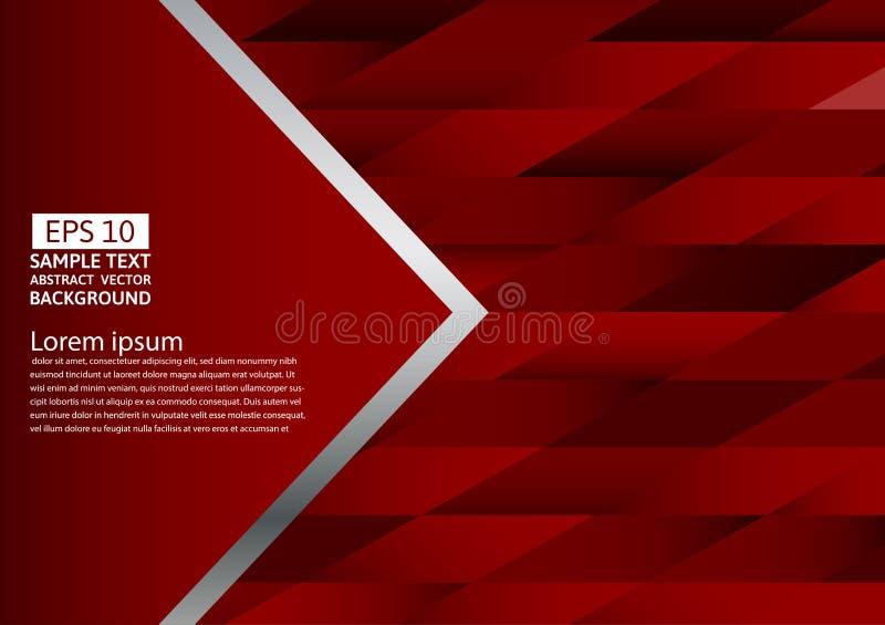 Abstrakter rote Farbgeometrischer Hintergrund, Vektorillustration mit Kopienraum lizenzfreie abbildung