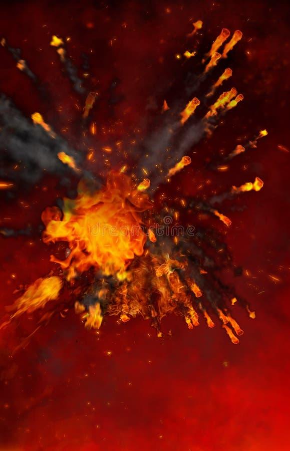 Abstrakter roter brennender Hintergrund stockfotos