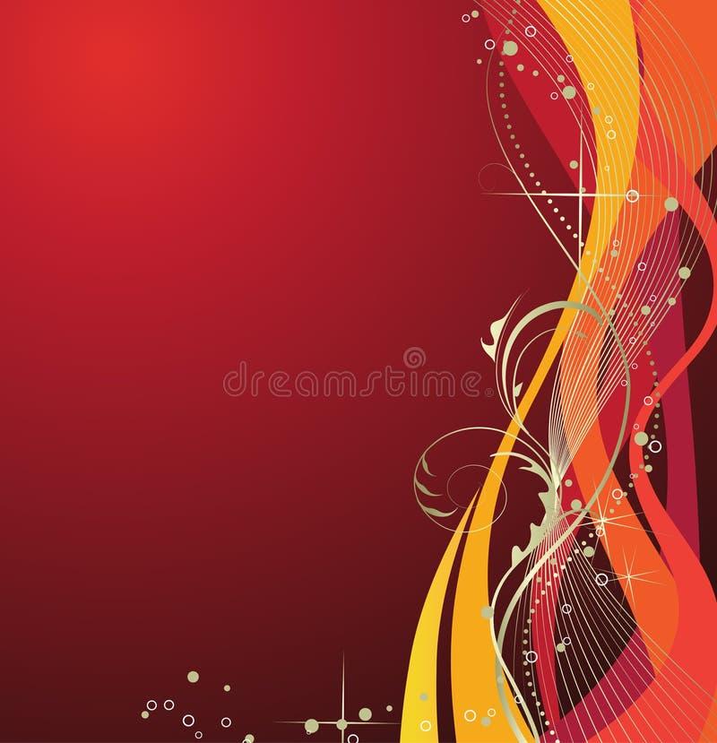 Abstrakter roter Feiertagshintergrund. lizenzfreie abbildung