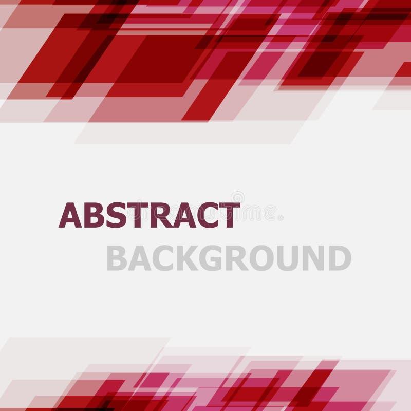 Abstrakter roter geometrischer Überschneidungshintergrund lizenzfreie abbildung