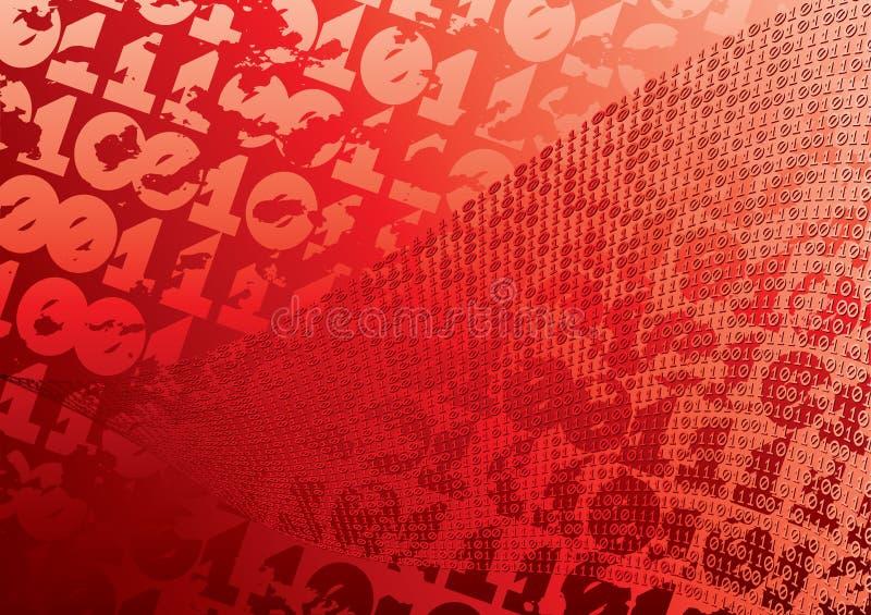 Abstrakter roter Hintergrund. vektor abbildung