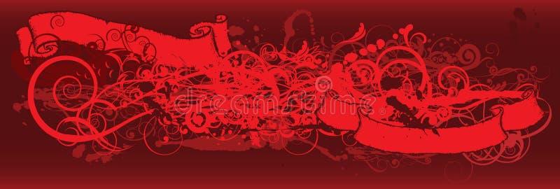 Abstrakter roter Hintergrund vektor abbildung