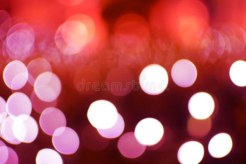 Abstrakter roter Hintergrund Bokeh stockfoto