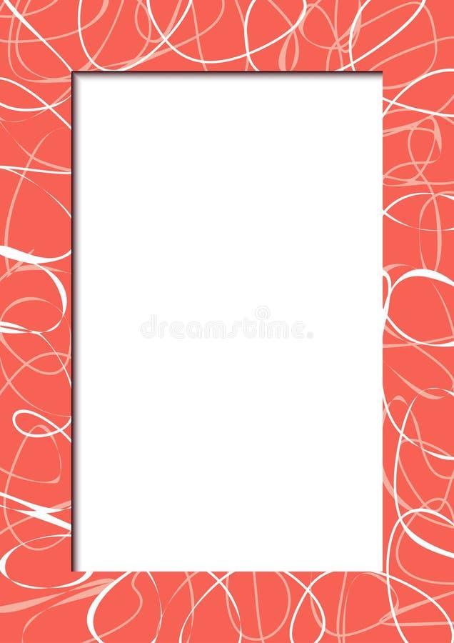 Abstrakter Roter Rahmen Mit Gekritzeln Stock Abbildung ...