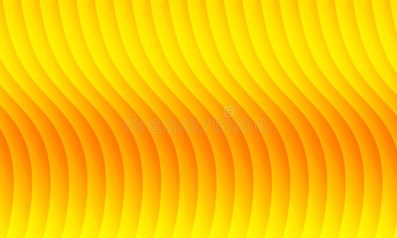 Abstrakter roter und gelber Wellenhintergrund, Tapete, Vektor, Illustration stock abbildung