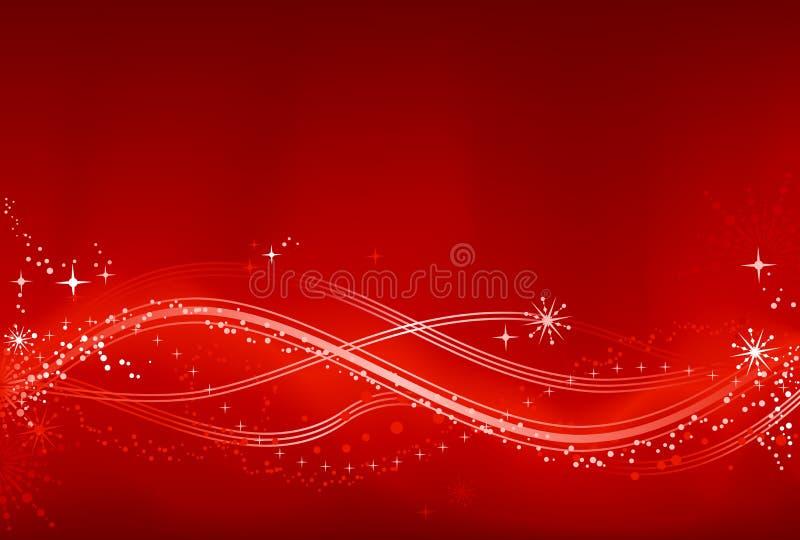 Abstrakter roter und weißer Chrismas Hintergrund lizenzfreie abbildung