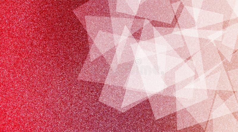 Abstrakter roter und weißer Hintergrund schattiertes gestreiftes Muster und Blöcke in den diagonalen Linien mit roter der Weinles lizenzfreie stockfotografie