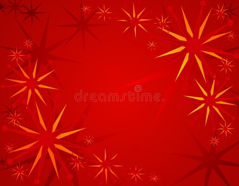 Abstrakter roter Weihnachtshintergrund 2 lizenzfreie abbildung